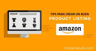 listing de productos en Amazon